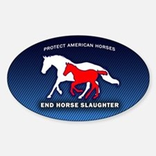 Anti-Horse Slaughter Bumper Decal