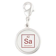 Sa Sarcasium Element Silver Round Charm