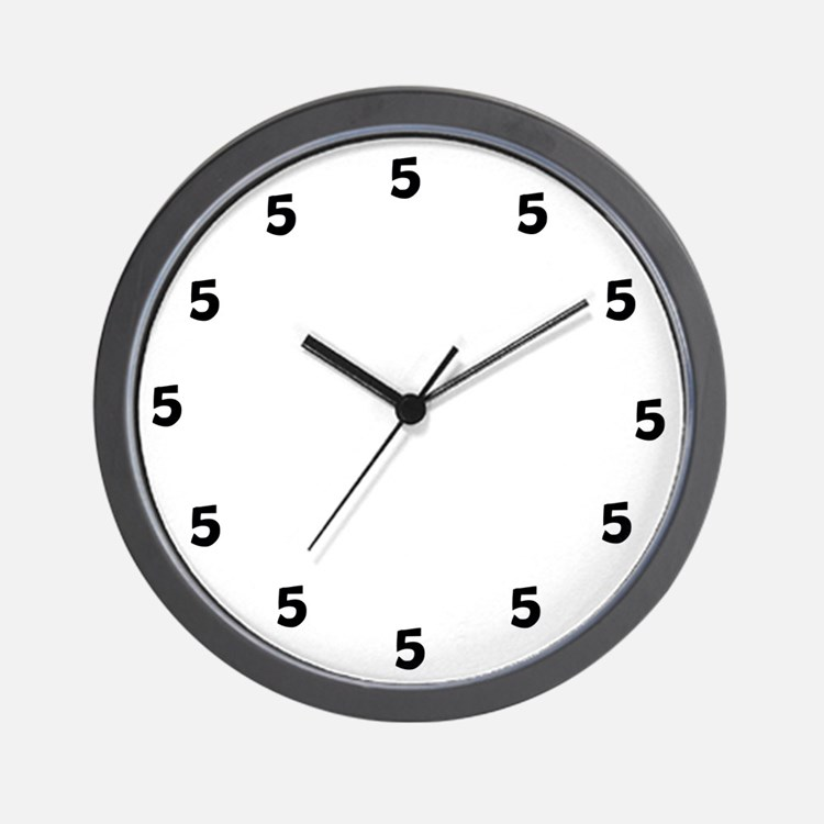 """5 o' clock somewhere"" Wall Clock"