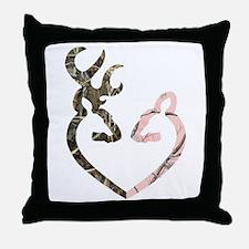 Deer Heart Throw Pillow