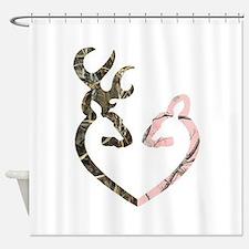 Deer Heart Shower Curtain