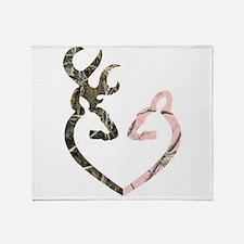 Deer Heart Throw Blanket