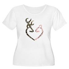 Deer Heart Plus Size T-Shirt
