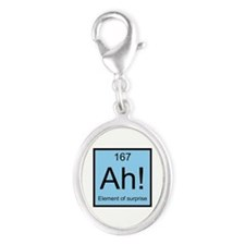 Ah! Element of Surprise Silver Oval Charm