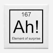 Ah! Element of Surprise Tile Coaster