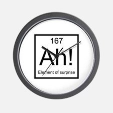 Ah! Element of Surprise Wall Clock