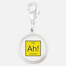 Ah! Surprise Element Silver Round Charm