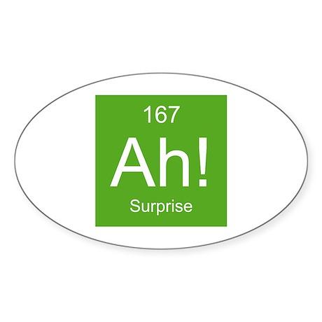 Ah! Surprise Element Sticker (Oval)
