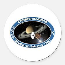 Cassini Saturn Round Car Magnet
