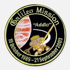 Galileo: Jupiter Round Car Magnet