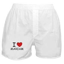 I love Mariam Boxer Shorts