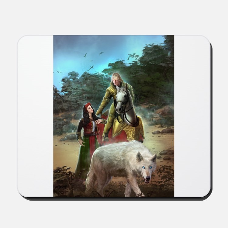 The White Wolf Propphecy Lovers Mousepad