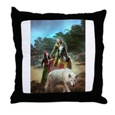 The White Wolf Propphecy Lovers Throw Pillow