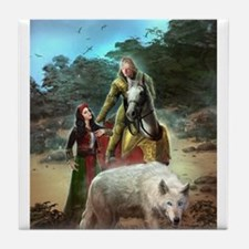 The White Wolf Propphecy Lovers Tile Coaster