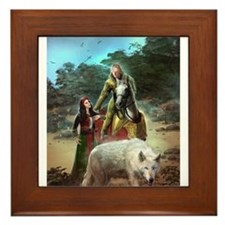 The White Wolf Propphecy Lovers Framed Tile