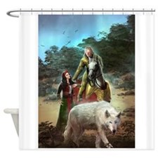 The White Wolf Propphecy Lovers Shower Curtain