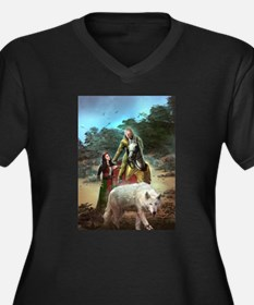 The White Wolf Propphecy Lovers Plus Size T-Shirt