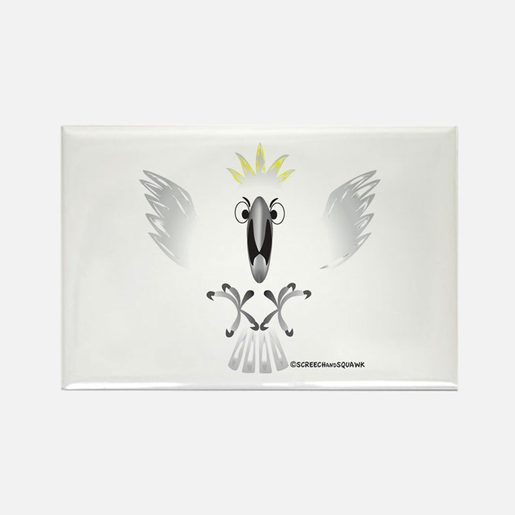 Screaming Cockatoo Rectangle Magnet
