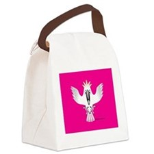 Screaming Parrot Canvas Lunch Bag