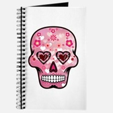 CANDY SKULL-Pink hearts-1 Journal