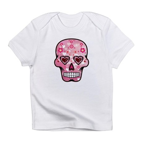 CANDY SKULL-Pink hearts-1 Infant T-Shirt