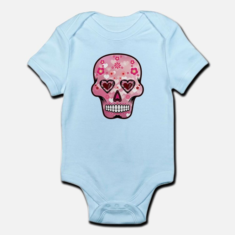 CANDY SKULL-Pink hearts-1 Body Suit