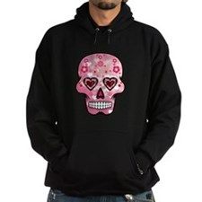 CANDY SKULL-Pink hearts-1 Hoodie