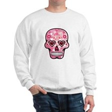 CANDY SKULL-Pink hearts-1 Sweater