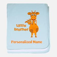 Little Brother Giraffe baby blanket
