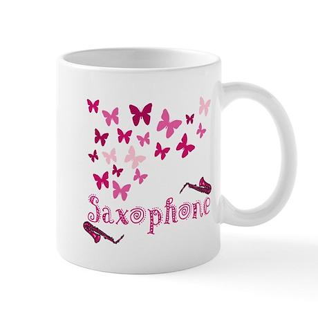 Butterfly Saxophone Mug