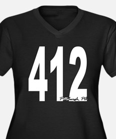412 Pittsburgh Area Code Plus Size T-Shirt
