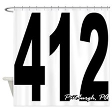 412 Pittsburgh Area Code Shower Curtain