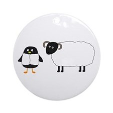 Yaya and Scottish Blackface Ornament (Round)