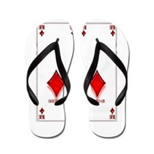 Ace of Diamonds Flip Flops