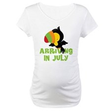 Arriving In July Pregnancy Toucan Shirt