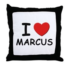 I love Marcus Throw Pillow