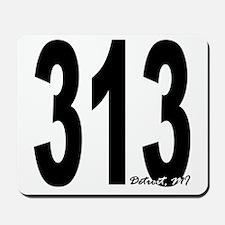 313 Detroit Area Code Mousepad