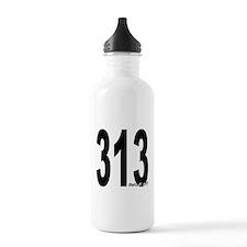 313 Detroit Area Code Water Bottle