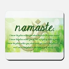 Namaste Greeting Mousepad
