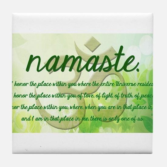 Namaste Greeting Tile Coaster