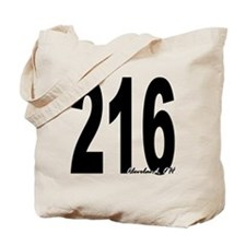 216 Cleveland Area Code Tote Bag
