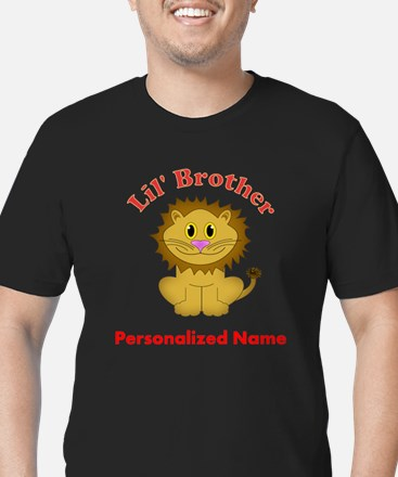 Little Brother Lion Men's Fitted T-Shirt (dark)