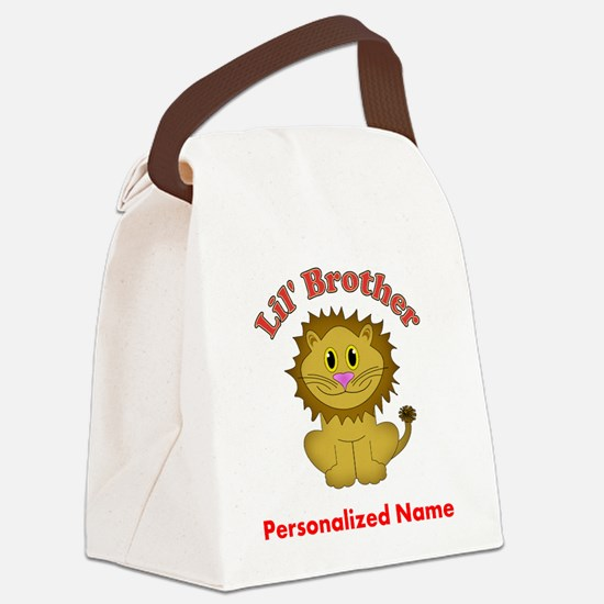Little Brother Lion Canvas Lunch Bag