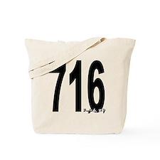 716 Buffalo Area Code Tote Bag