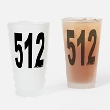512 Austin Area Code Drinking Glass