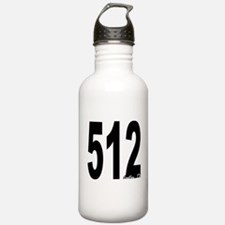 512 Austin Area Code Water Bottle