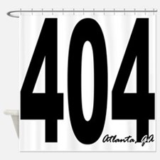 404 Atlanta Area Code Shower Curtain