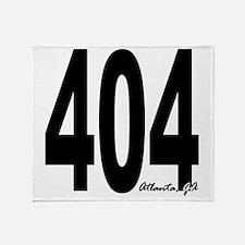 404 Atlanta Area Code Throw Blanket