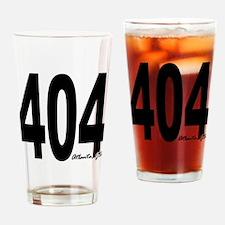 404 Atlanta Area Code Drinking Glass