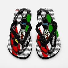 Hispanic Heritage Mexico Soccer Flip Flops